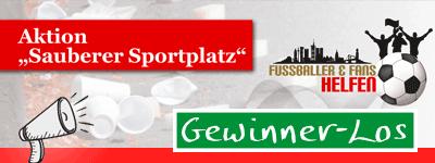 """Losnummer Aktion """"Sauberer Sportplatz"""""""
