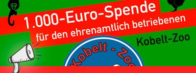 1.000-Euro-Spende für den Kobelt-Zoo